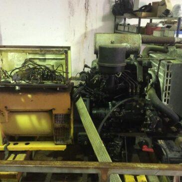 Reparación de generador quemado